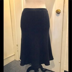 Chanel silk and cashmere tulip skirt